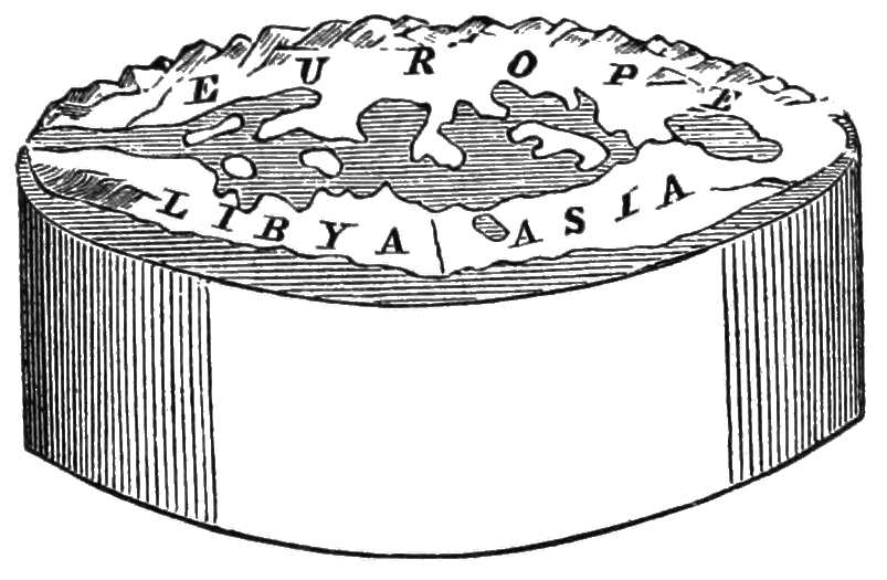 One of the earliest models of the Earth was Anaximander's cylinder. Anaximander studied the movement planets and was one of the first to believe they orbited Earth. Popular Science Monthly Volume 10/Wikimedia Commons (CC BY 1.0)
