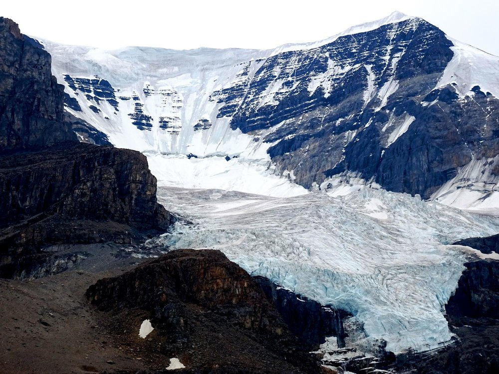 The Athabasca Glacier in Canada has been shrinking for years. © Lauren Fuge (used with permission)