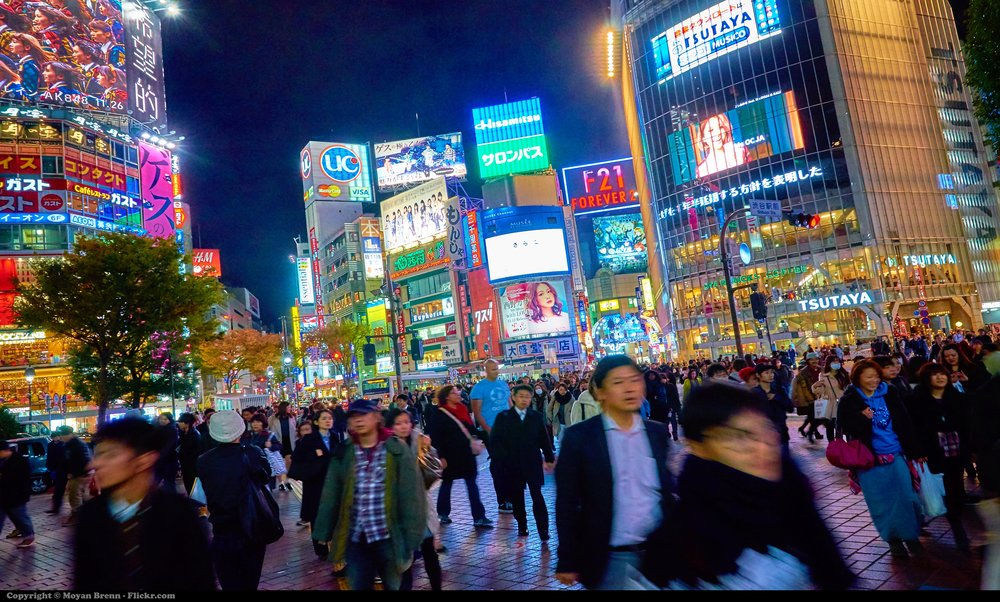 With such busy city centres, it may be surprising that population decline is an issue in Japan. Moyan Brenn/Flickr(CC BY 2.0)