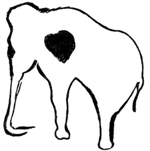 The first known drawing of a love heart as we know it today: the heart of a mammoth.   Hajar, R  (open access)