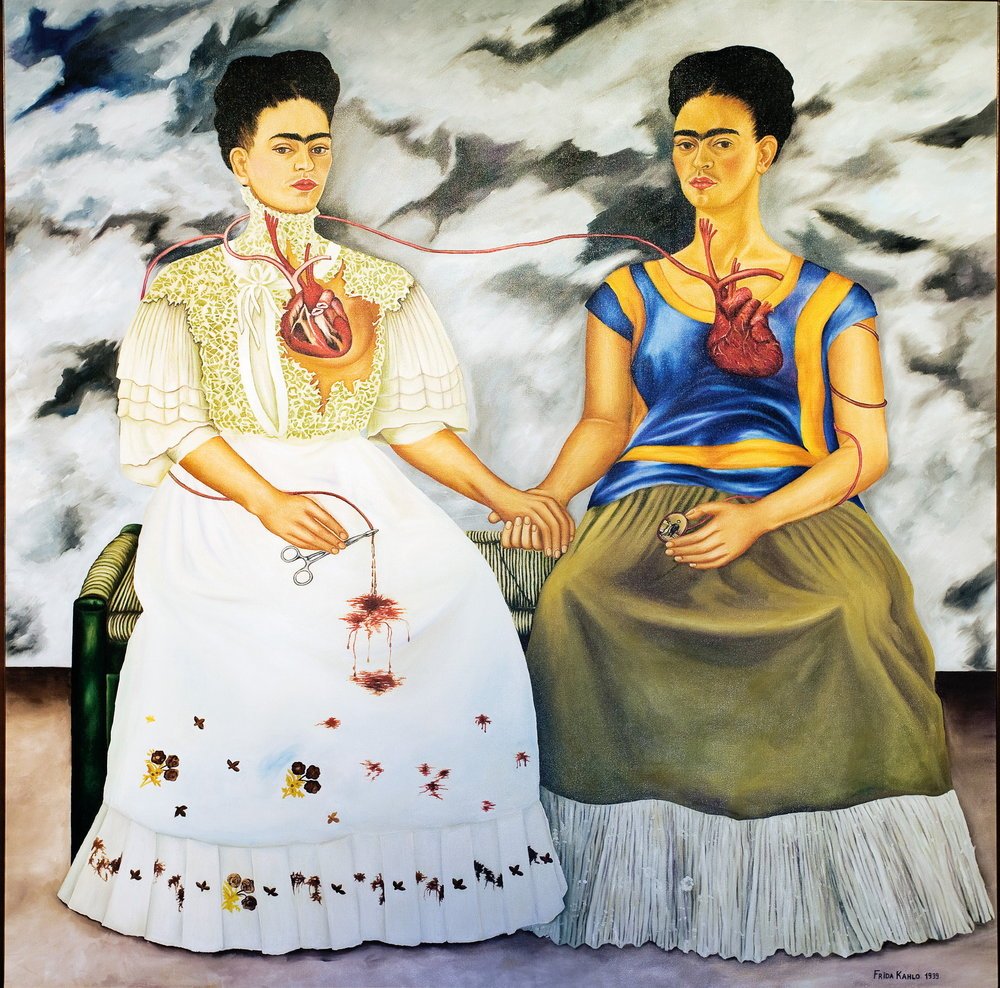 """The Two Fridas"" by Frida Kahlo.   Peter K. Levy/Flickr  (public domain)"