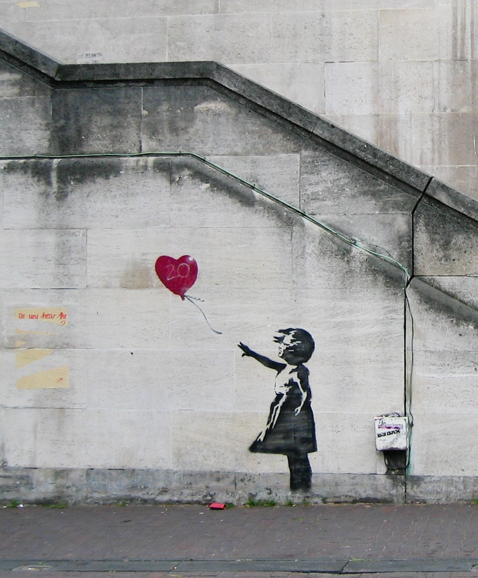 """Girl With a Balloon"" by Banksy.   Dominic Robinson/Flickr  (CC BY-SA 2.0)"