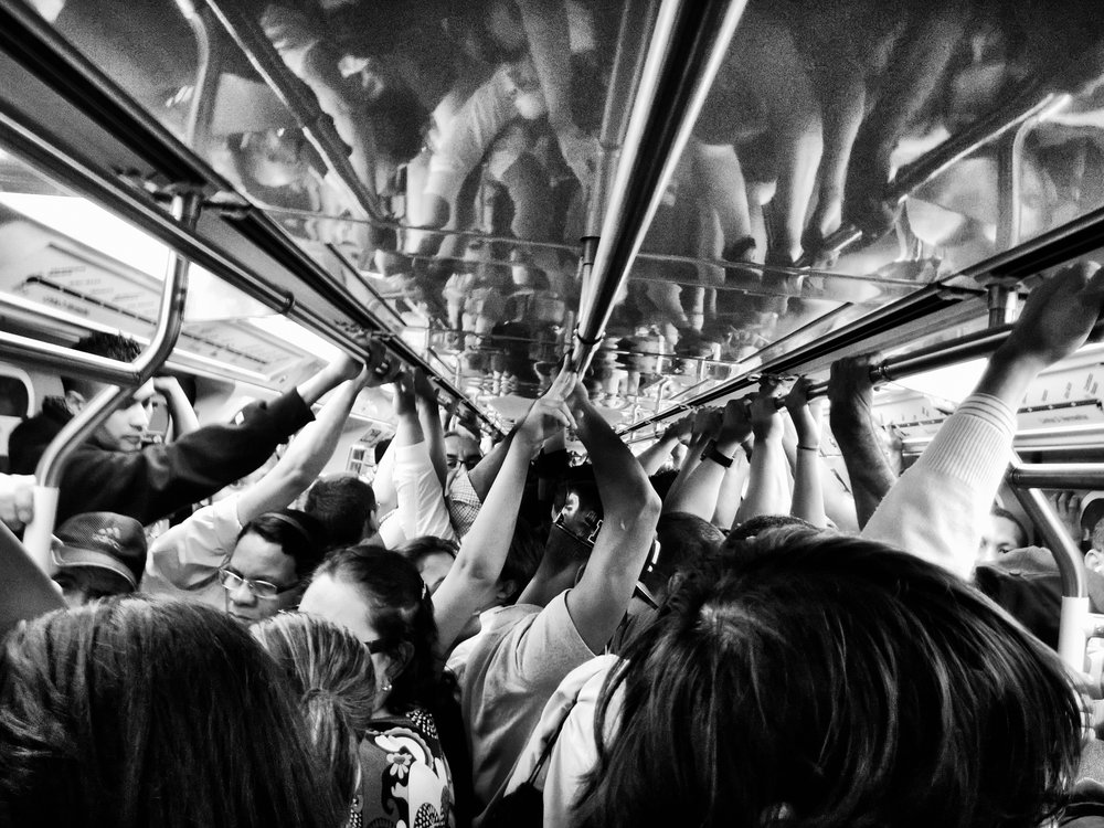 While most of us expect and accept temporary crowding on public transit, chronic household crowding can affect our mental and physical health and impact on our personal relationships.   Diego Torres Silvestre/Flickr  (CC BY 2.0)