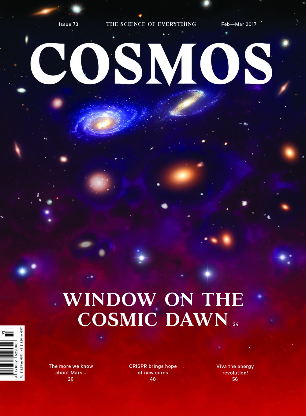Cosmos Magazine is a bi-monthly science magazine that aims to make science accessible to everyone. © Cosmos Magazine (used with permission)