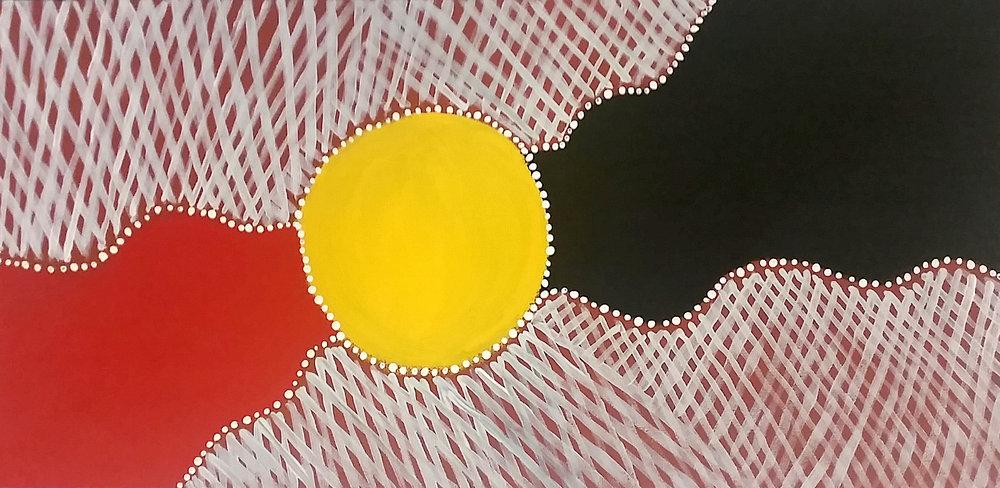 Artwork by Elverina Johnson of the Gungganji nation