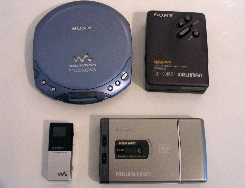 Well aged? The Sony Walkman family.  Marc Zimmermann/ Wikimedia Commons  (CC BY-SA 3.0)