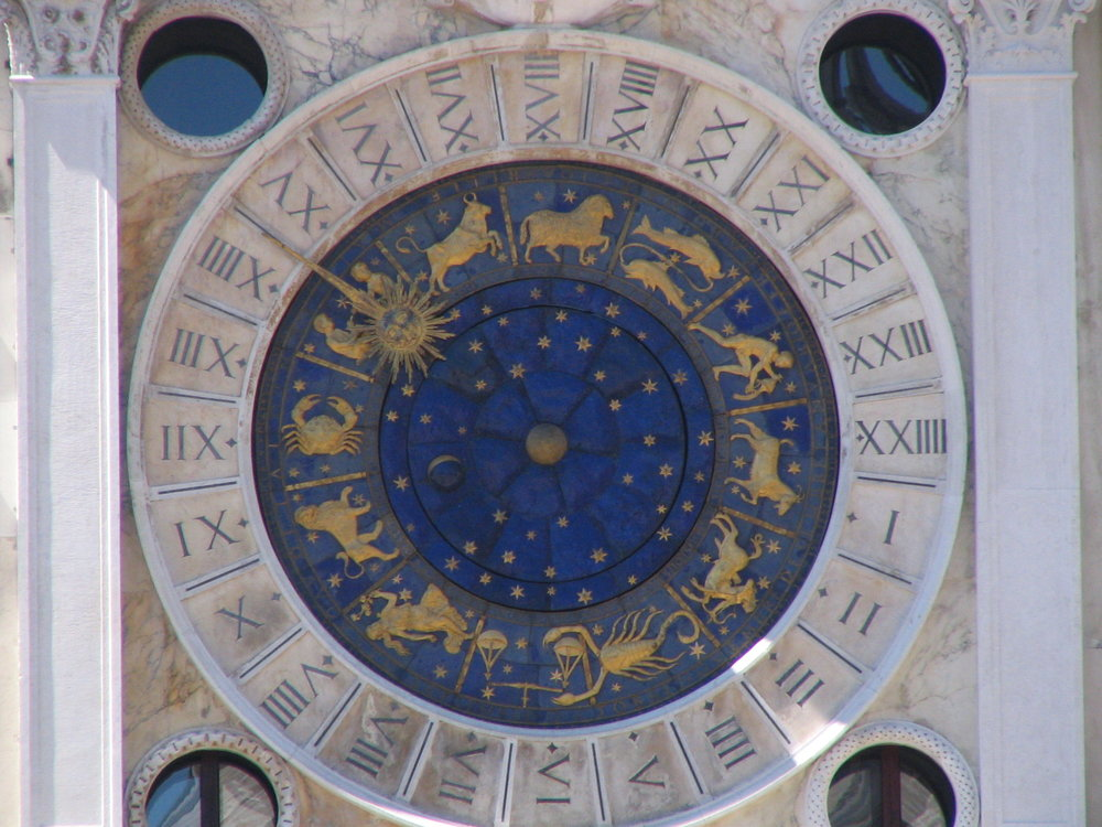 While Europe may have lagged behind the rest of the world when it came to adopting astrology, this astrological clock in Piazza San Marco in Venice stands testament to its strong influence. Marcelo Teson/Wikimedia Commons (CC BY 2.0)