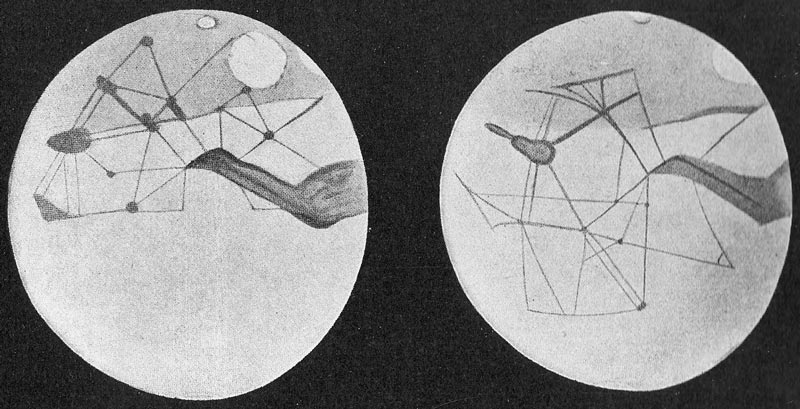 "Sketches of the ""canals"" on Mars made by Percival Lowell.   Яков Перельман/Wikimedia Commons  (public domain)"