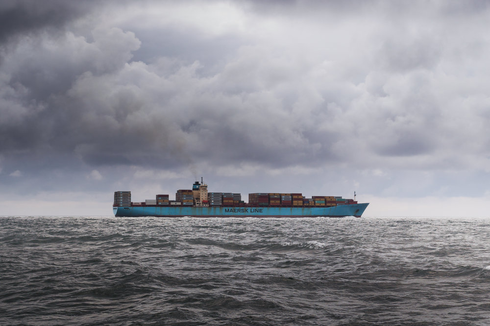 The increase in industrialised human activity on the water, including movement of container ships, has led to underwater noise pollution. Skitterphoto, Pexels (CC0)
