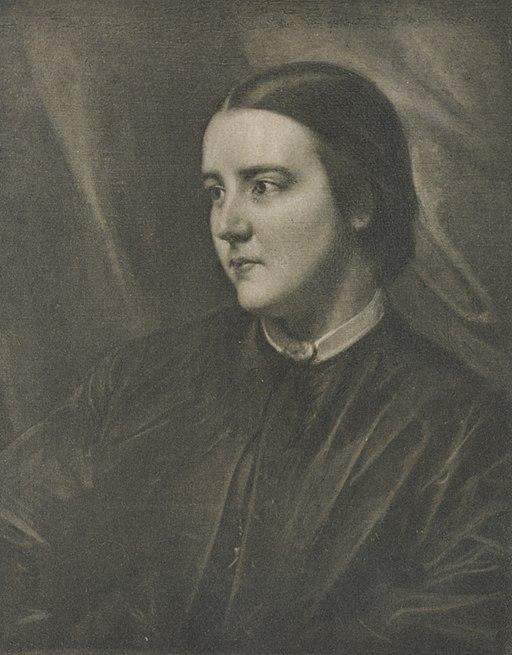 Sophia Jex-Blake, aged 25, a portrait by Samuel Laurence.   Wikimedia Commons  (public domain)