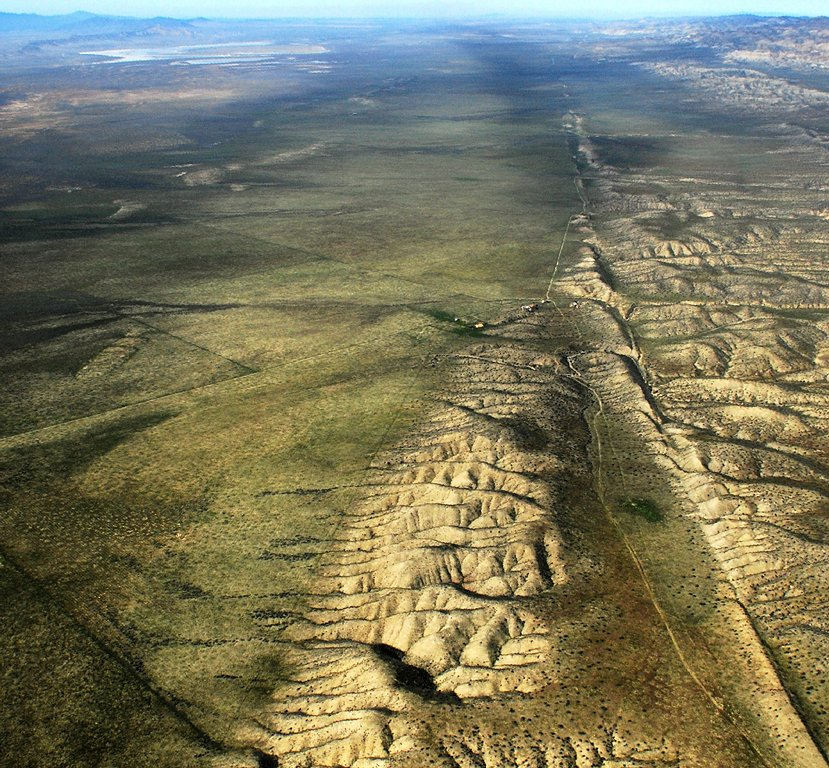 The San Andreas Fault in California is one example of a transform fault, where two plates are sliding past each other.   John Wiley/Wikimedia Commons  (BY-CC-A-3.0)