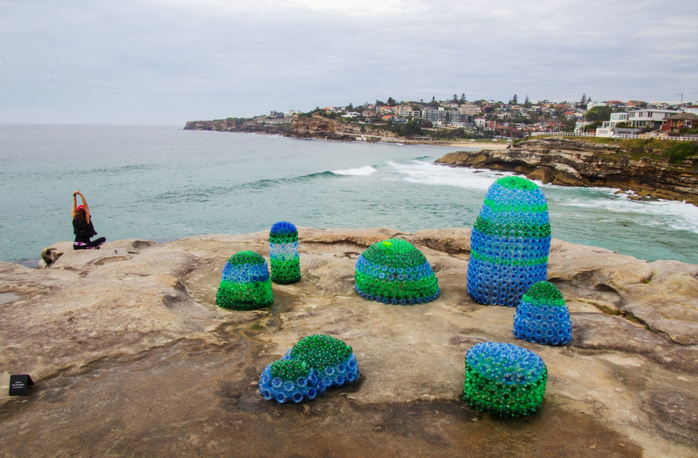 "An art installation by Kathy Allam at the 2017 Sculpture by the Sea exhibition aims to ""explore our current dilemma living with plastic"".    Laurie Wilson/Flickr  (CC BY-NC-ND 2.0)"
