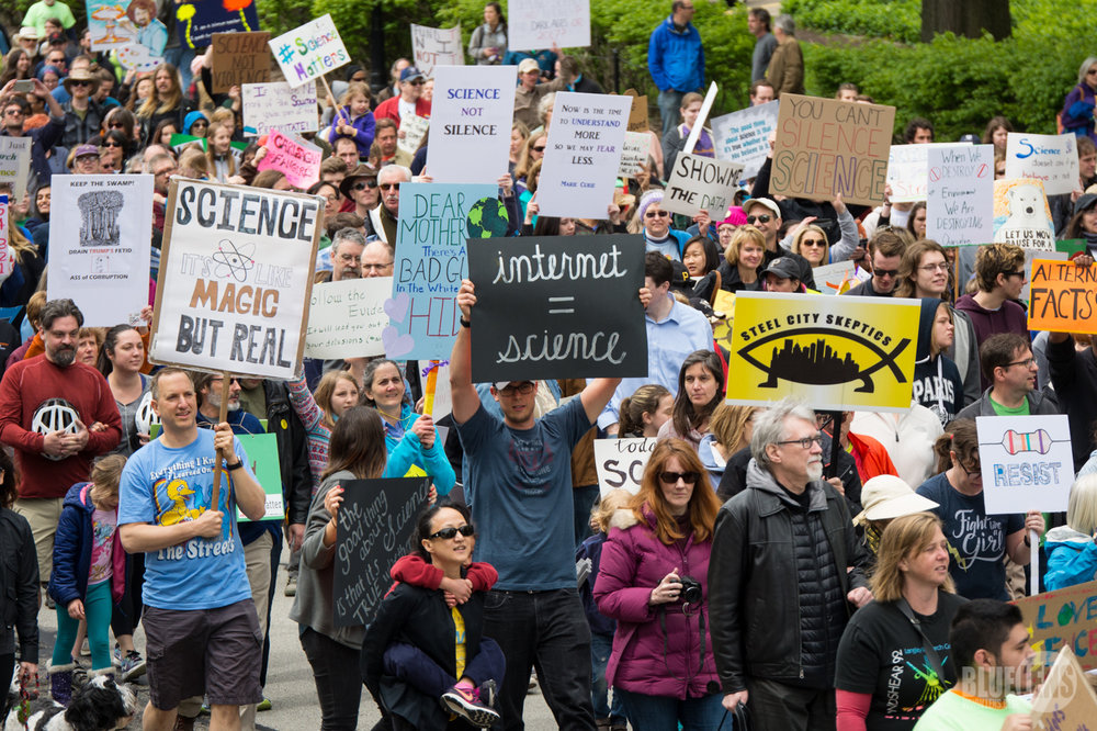 On 22 April 2017, Earth Day, one million people took to the streets in over 600 cities to celebrate science and the role it plays in our everyday lives.   Mark Dixon/Wikipedia  (CC BY 2.0)