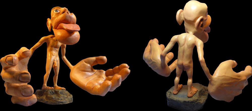 This homunculus shows the relative proportions of the brain used for sensory processing for different body parts. Note the large portions of the brain dedicated to the hands and face.   Mpj29 / Wikimedia Commons  (CC BY 4.0)