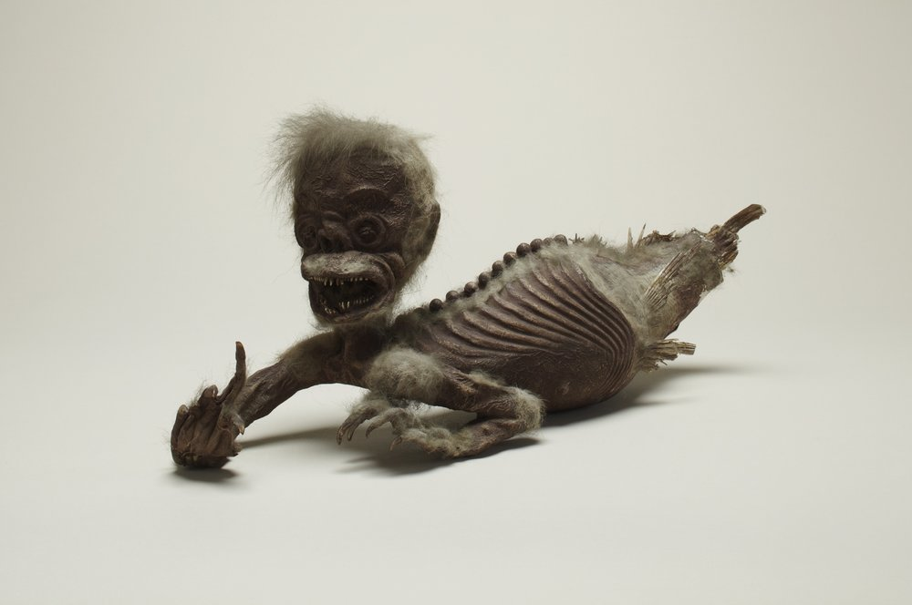Although its authenticity is contested to this day, the Feejee Mermaid specimen is still on display as a part of Henry Wellcome's collection.   Thom Atkinson  (CC BY 4.0)