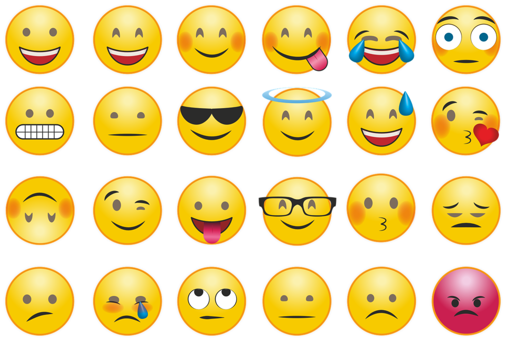 A keyboard of emojis is no substitute for meaning-laden body language and other non-verbal cues.  CC0
