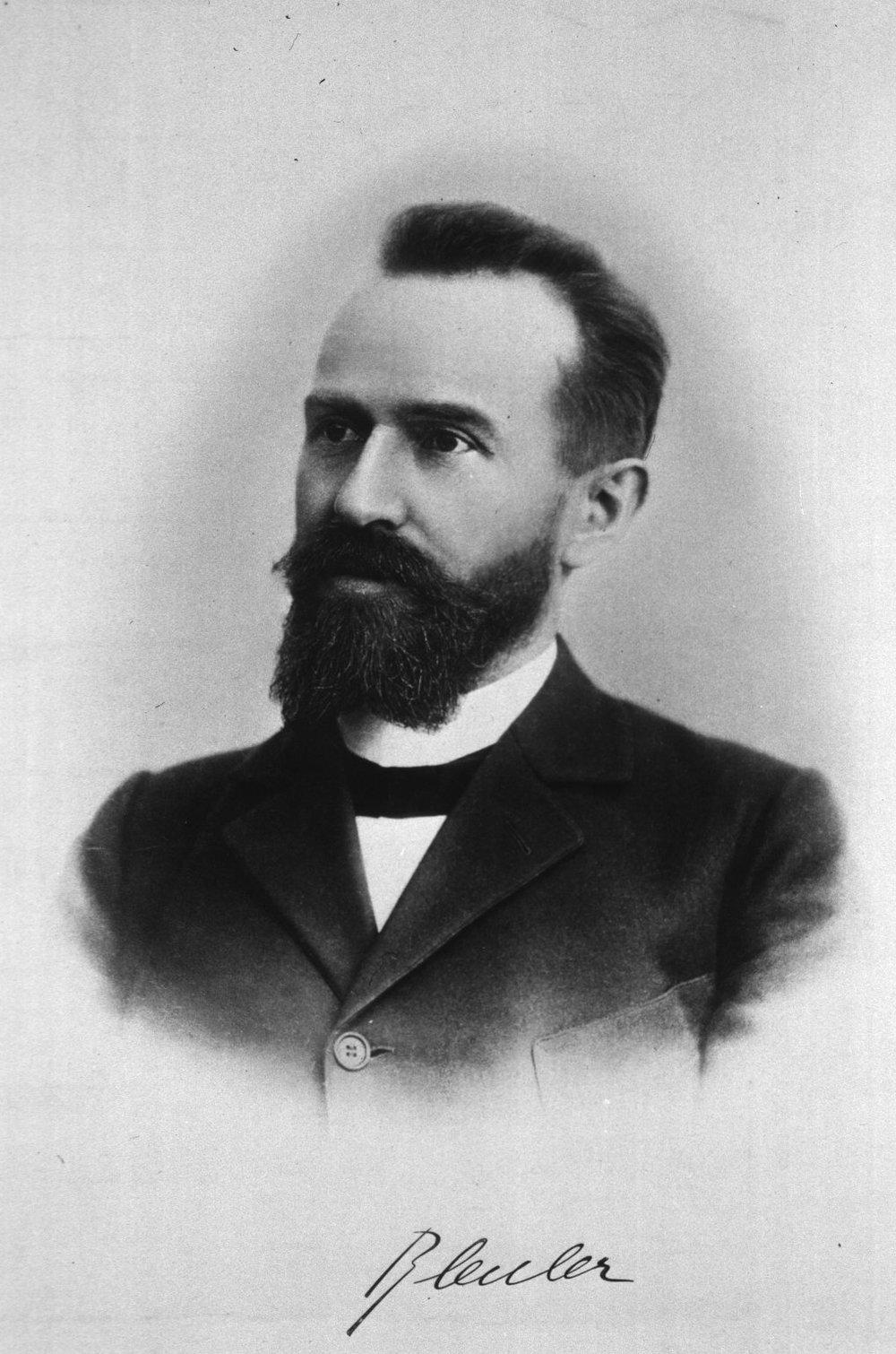 Swiss psychiatrist Eugen Bleuler, circa 1900, who coined the term schizophrenia.   Unknown photographer/Wikimedia Commons  (public domain)