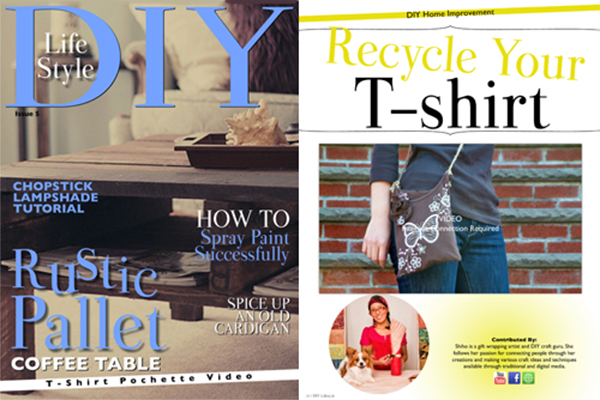 Recycle Your T-Shirt DIY Life Style Magazine (Mar 2013)