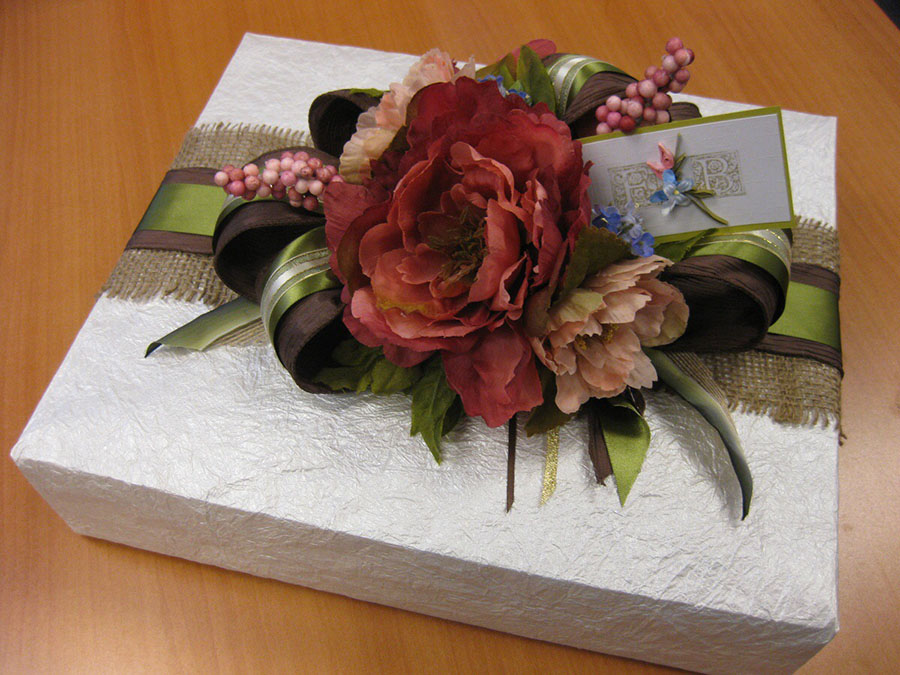 Diana incorporates various textures, colors and styles into her gift wrapping