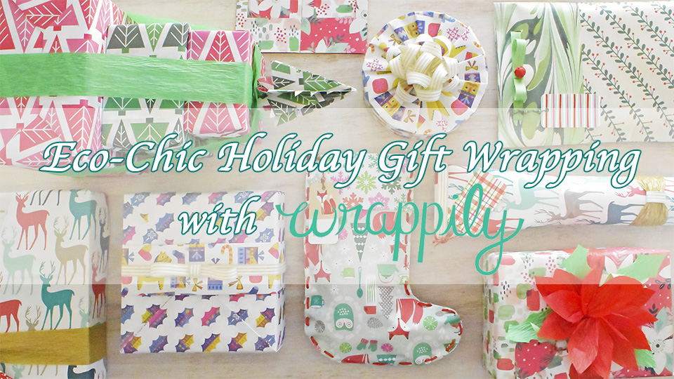 Join my holiday online gift wrapping course, Eco-Chic Holiday Gift Wrapping with Wrappily by 12/01/2017 to get 20% off discount!