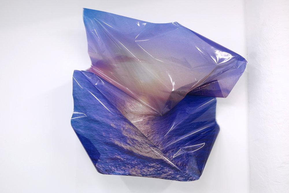 Event Horizon,  2018  Epson UltraChrome Ink, Transparent Film, Resin, Glitter