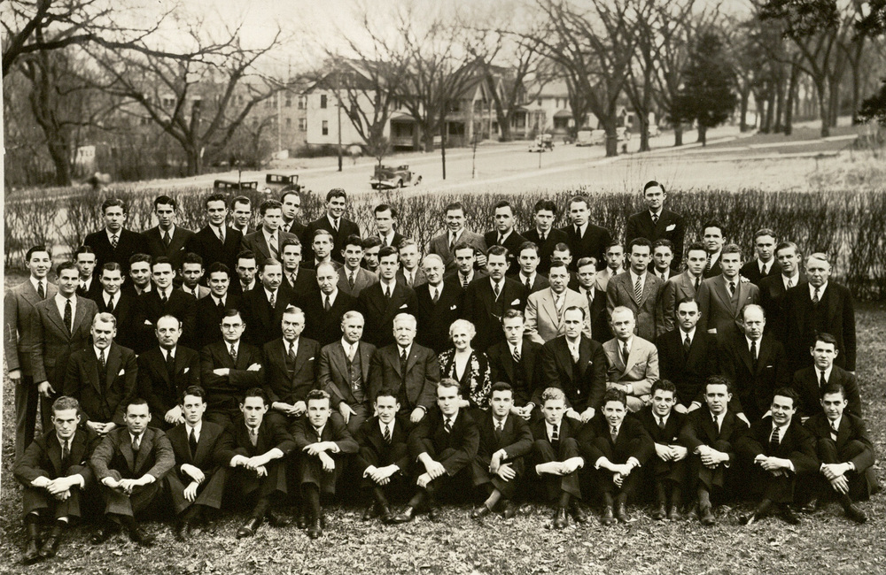 Active Chapter and Alumni after Initiation - 1936
