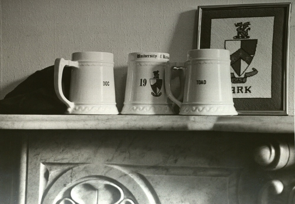 Mugs on the O'Club Mantle