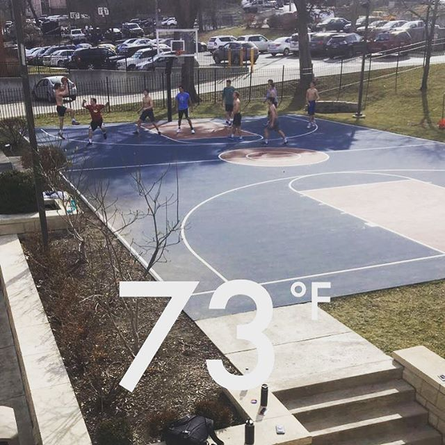 Betas took advantage of the warm weather this NBA All-Star weekend! #HuttStrong #HuttBall