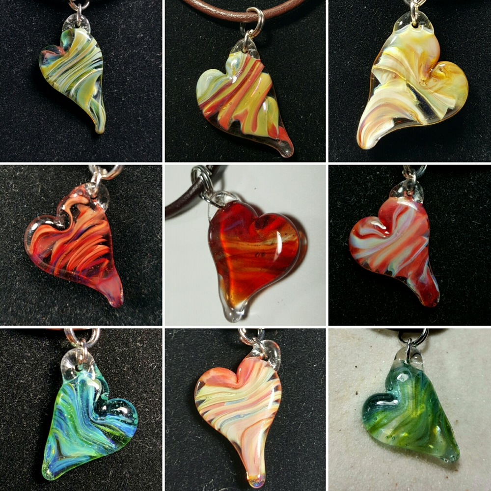 First batch of a new feathered heart style pendant. Loved the results so much kinda went nuts on some hearts for valentine's day!