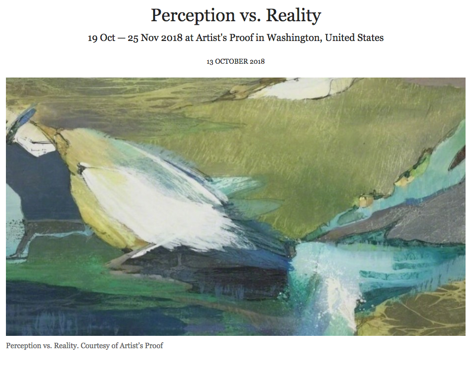 WALLSTREET INTERNATIONAL MAGAZINE     Perception vs. Reality   Influenced by the connection between humanity and nature, the organic qualities of Coulson's (Figure 1) paintings stem from…..