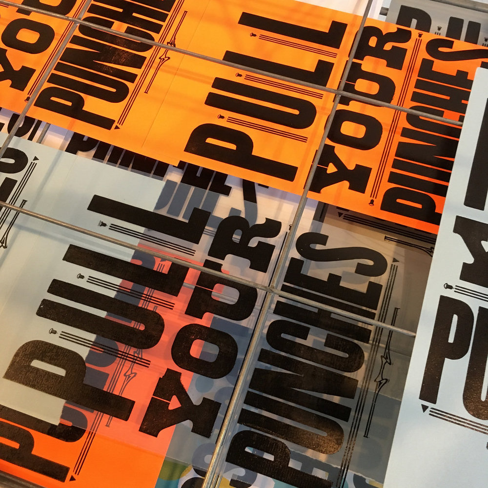 Printing letterpress posters and positives, Hamilton Ink Spot, 2016