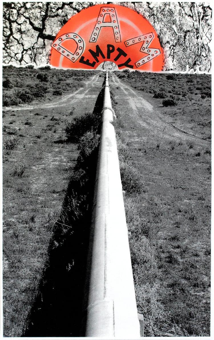 Dam Empty (dam empty), 2015 Edition: 25,75x49cm,Aerosol and acrylic screen print on 90gsm litho