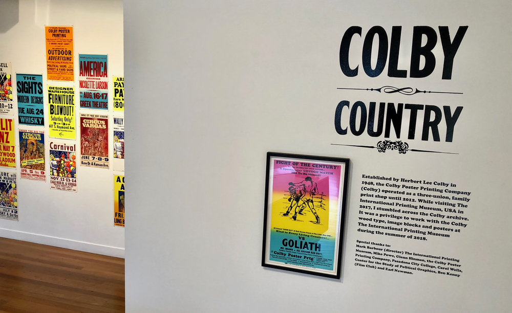 WENDY MURRAY: Colby Country,Colby Poster Printing Co. archive poster/s, 55x35cm, 2018