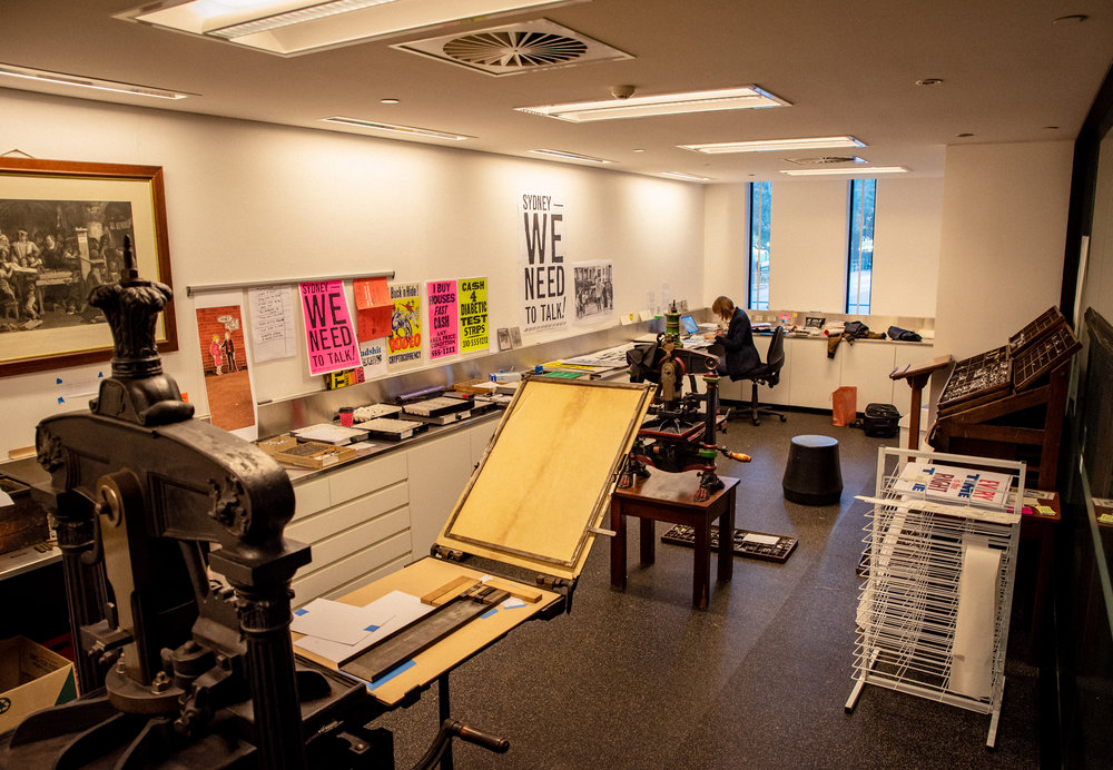Working in the studio / photo: Sarah Lorien