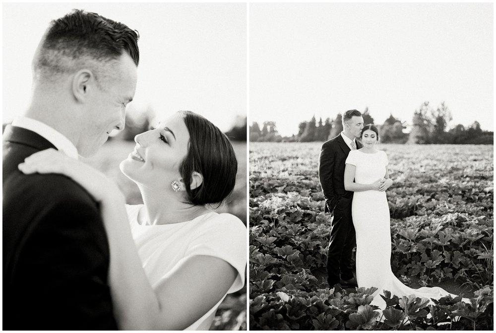 stylish farm wedding