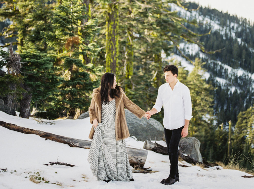 Snow covered mountain engagement inspiration session. To view full post,  click here.