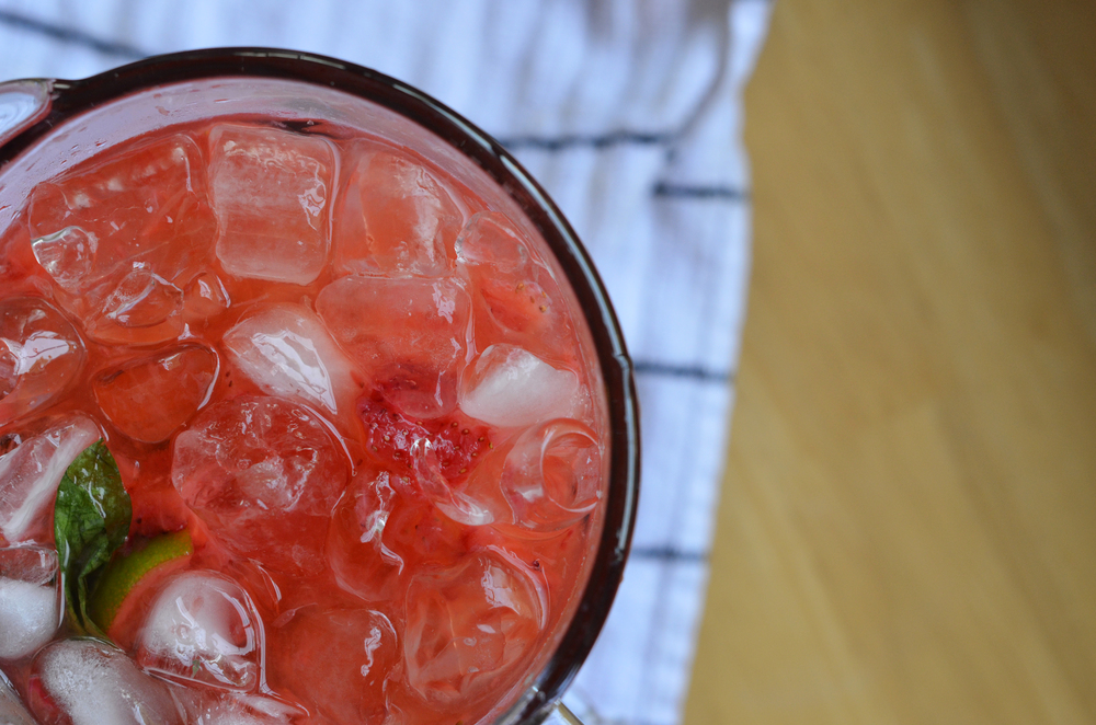 Shake it up with this spiked strawberry limeade.