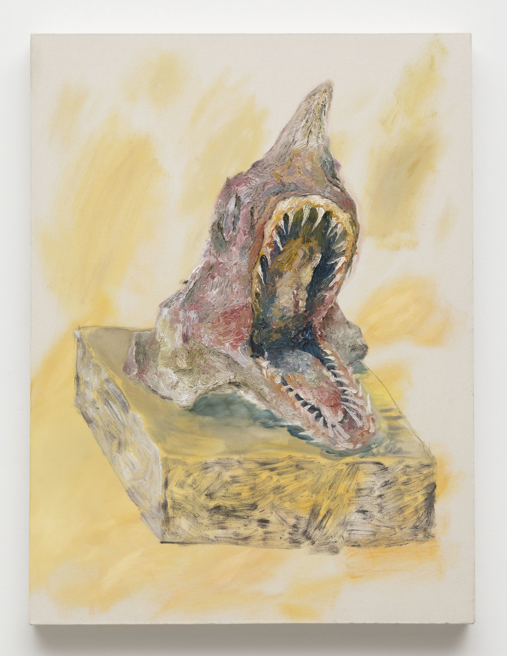 Shark Head Souvenir,  2014  Oil on canvas  36 x 26 x 3 inches