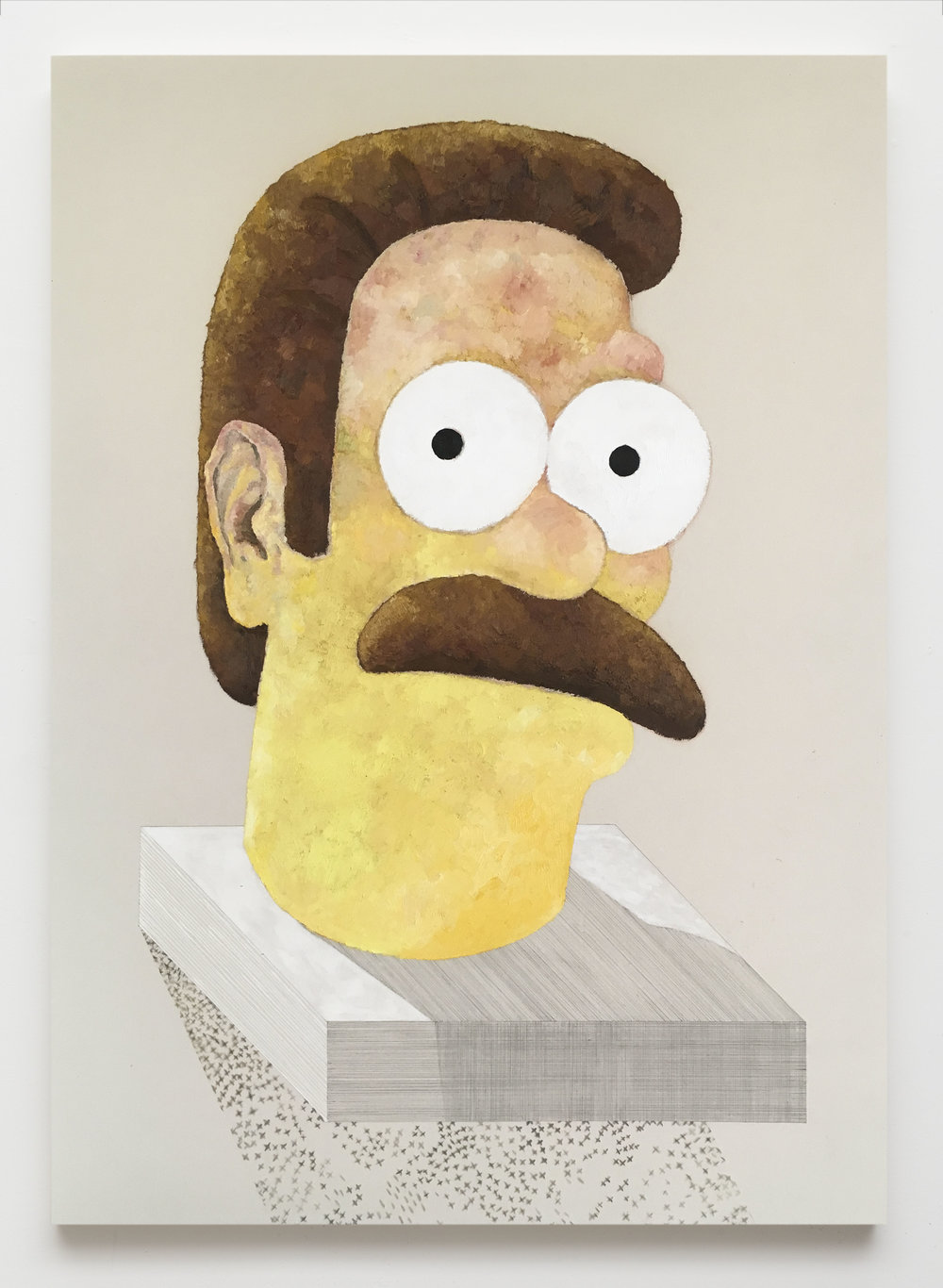 Ned Flanders,  2017  Oil on canvas  84 x 60 inches