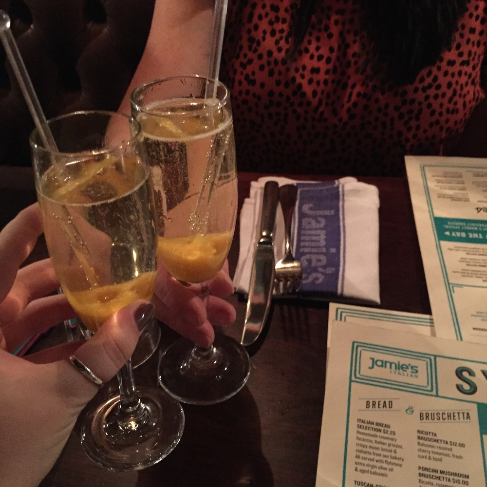 Fancy drinks at Jamie's Italian