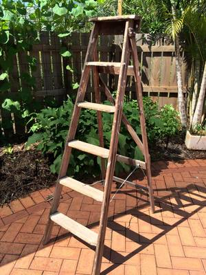 large wooden ladder 50 - Wooden A Frame Ladder