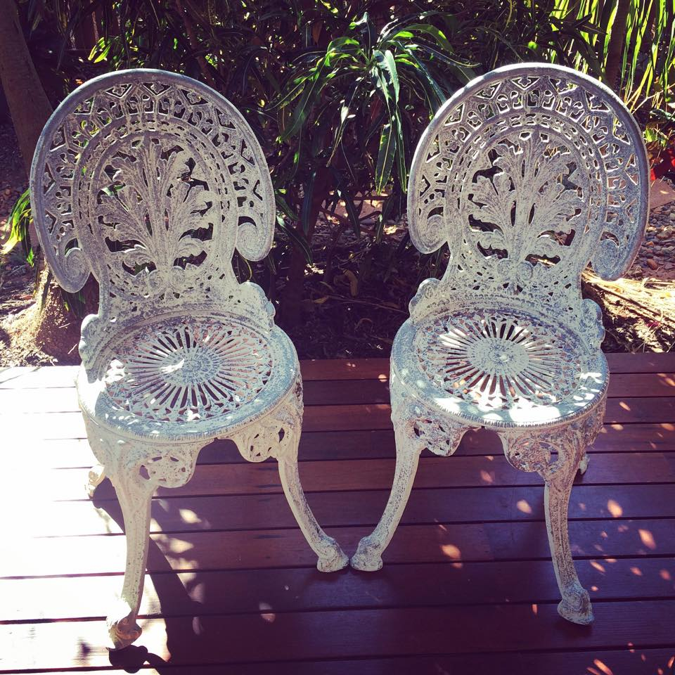 Cast iron chairs $12 each