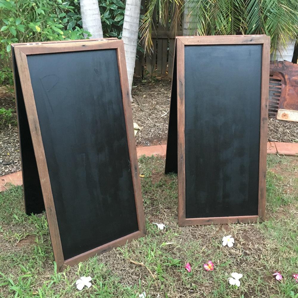 Freestanding Blackboards $35 each