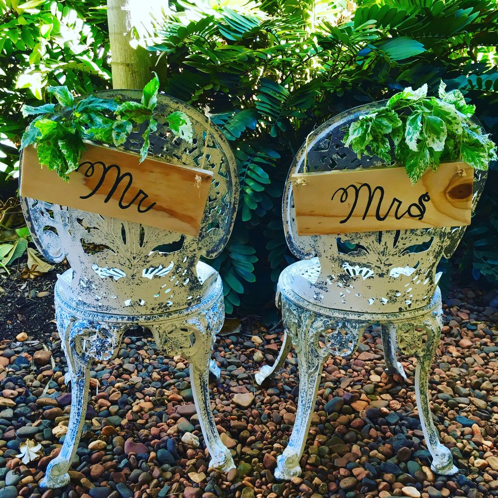 Hanging signs for Chairs $25 pair