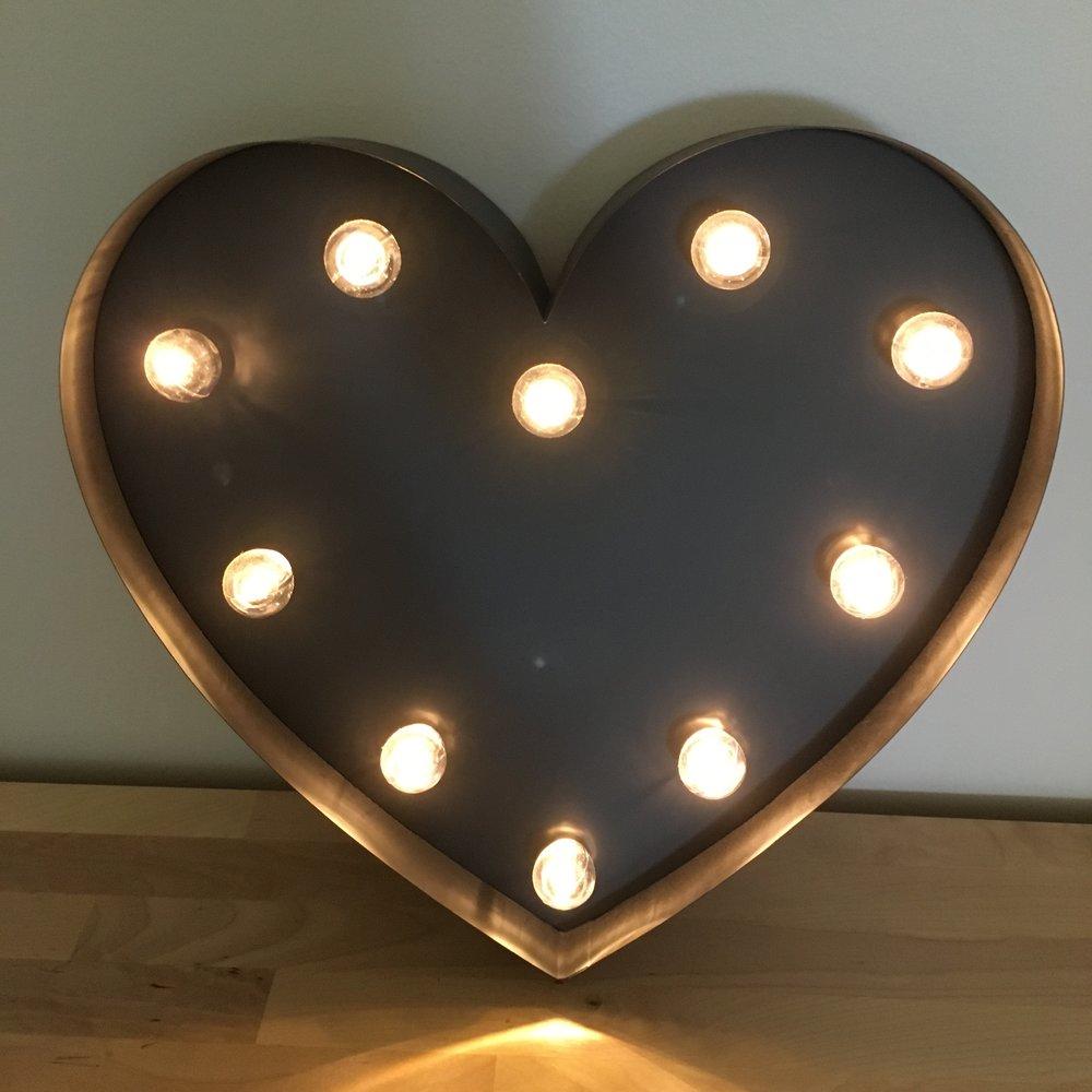 Light Up Love Heart $10