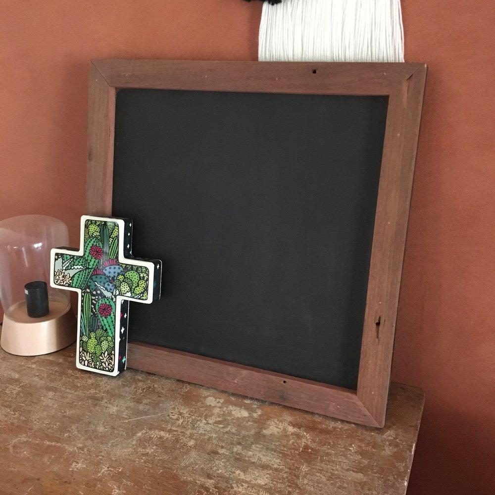 Square Black Board $20