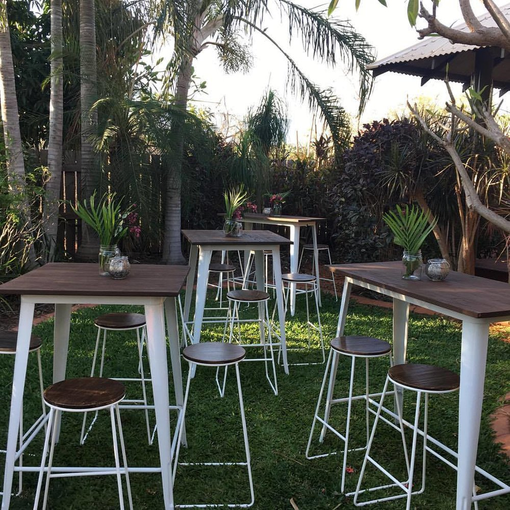 High Tables and Stools - Full Set $400