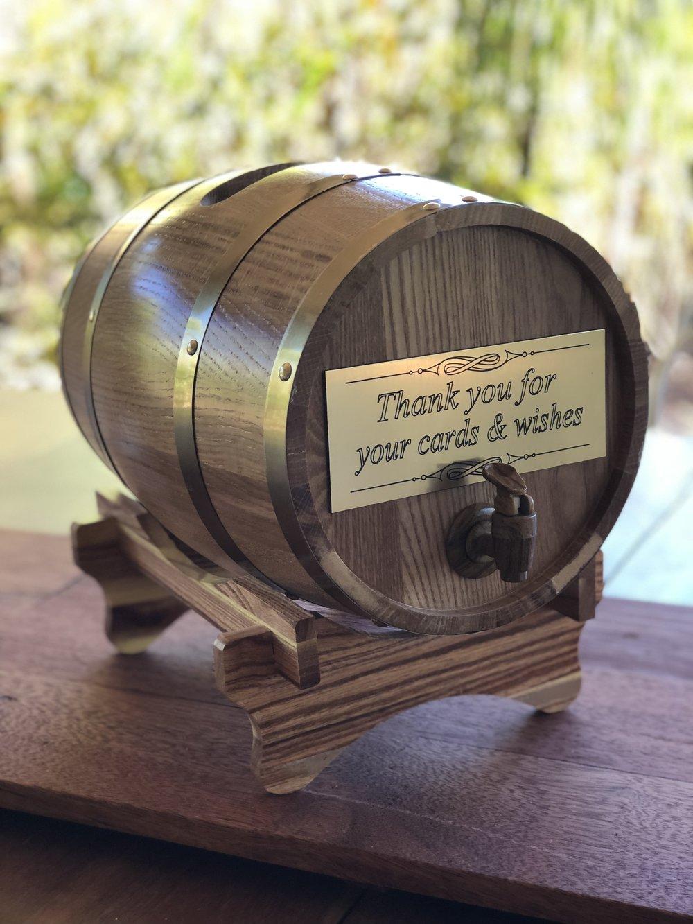 Wine Barrel Wishing Well $30
