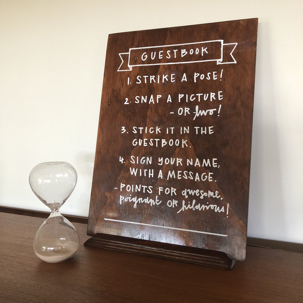 Guest Book Sign $10