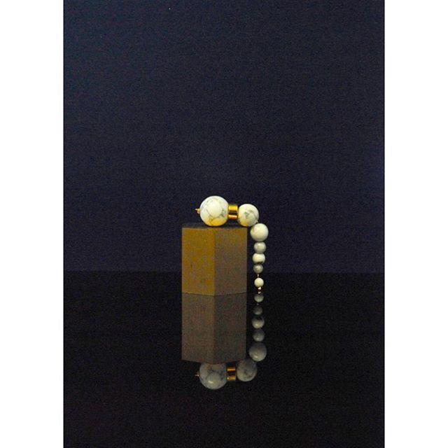 Olympia earrings - howlite  #ciitaadornments #jewelry #earrings #ciita